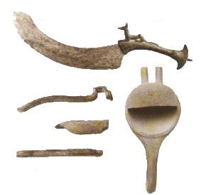 Herramientas empleadas en la extracción de los órganos del difunto