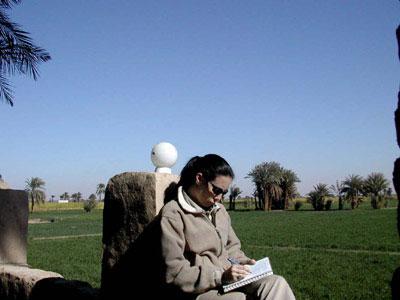 En el Marsam escribiendo el diario