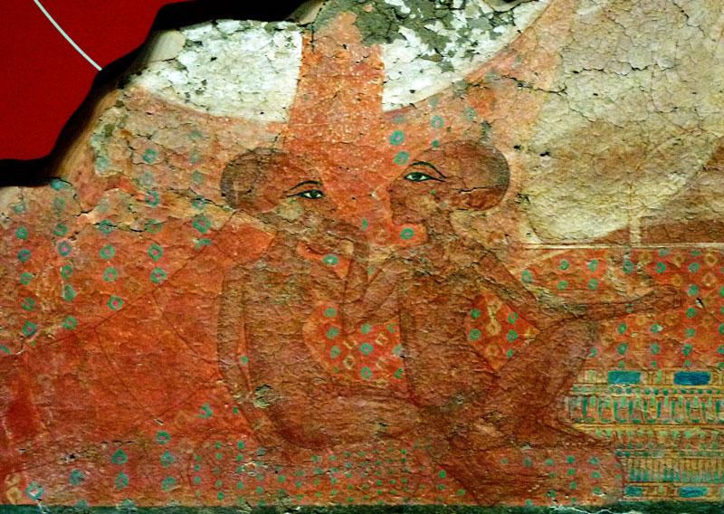 Fig. 3. Pintura mural de dos hijas de Ajenatón, del Gran Palacio Real.