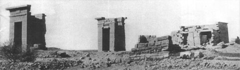 Ruinas del Templo de Debod en 1907
