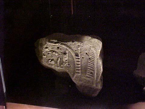 Fragmento de arenisca con cartucho