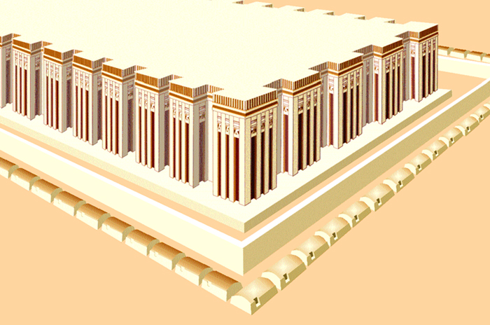 Saqqara - Detalle de la mastaba del rey Djet