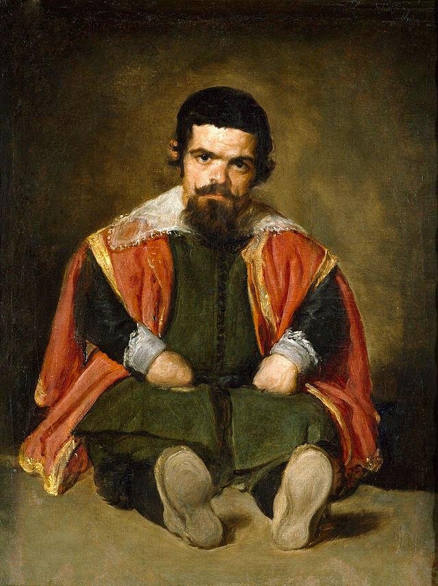El bufón Don Sebastián de Morra, pintado por Velázquez. Museo del Prado, Madrid (c. 1645).