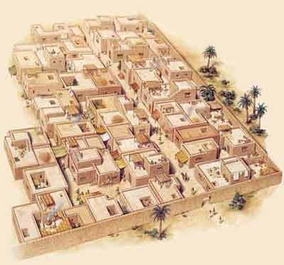 Fig. 1. Maqueta de Deir el-Medina. Poblado de los trabajadores de la necrópolis tebana en época de la dinastía XVIII.
