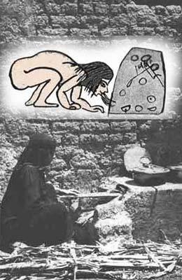 Fig. 5. Imágenes comparativas del horno en el Antiguo Egipto y en Egipto en la actualidad. Las imágenes son muy similares.