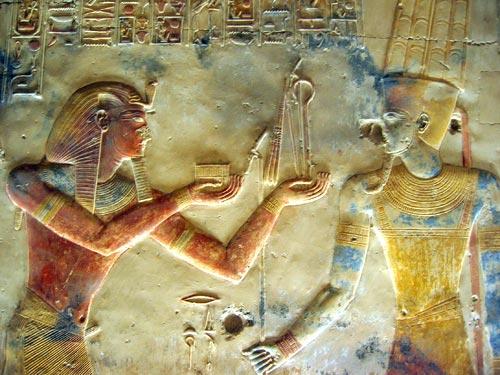 Fig. 3.- (Foto del autor) (Capilla de Amón Ra del templo de Abidos)