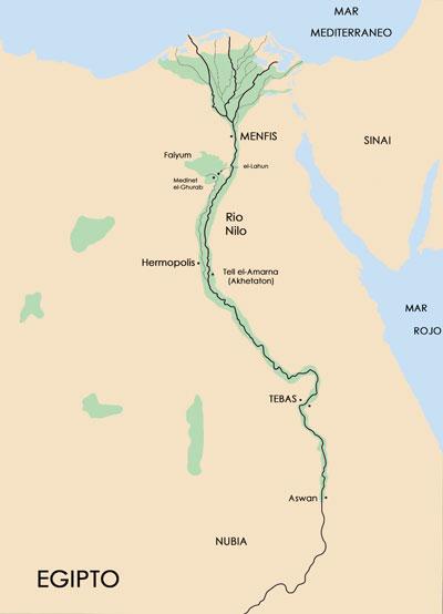 Fig. 1. Mapa de Egipto.
