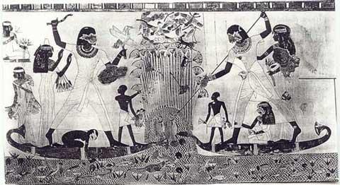 Fig. 1. Cacería en el Nilo.