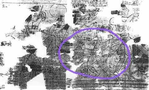 Fig. 14. Detalle del papiro erótico de Turín.