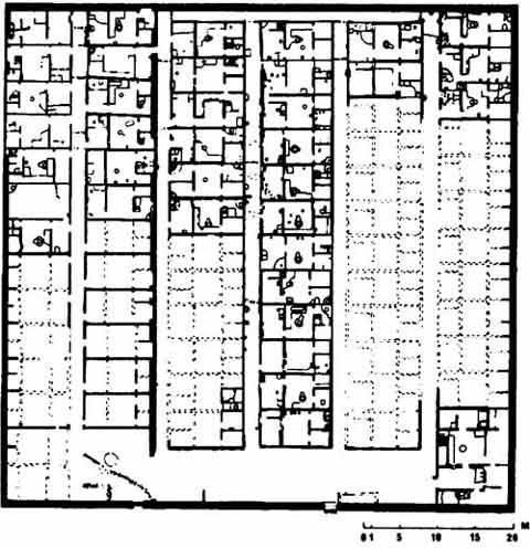 Fig. 2. Plano del poblado obrero en Amarna.