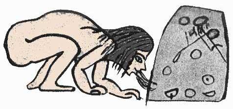 Fig. 31. Una sirvienta sopla el horno.