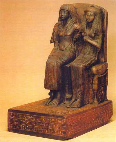 Fig. 34. Amenope y su mujer. Museo de Berlin.