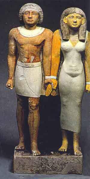 Fig. 52. Teti y una de sus esposas.