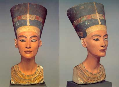 Fig. 64. Nefertiti. Museo de Berlín.