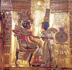 Fig. 69. Parte posterior del trono de Tutankhamon.