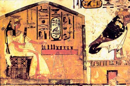 Fig. 72. Nefertari jugando al senet.