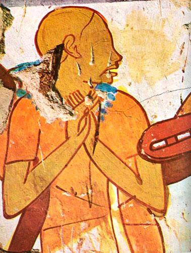 Fig. 2. Cantor ciego, tumba TT 78 (La peinture égiptienne, Skira, 1978).