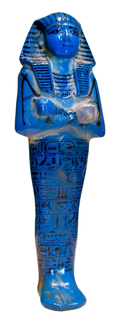 Fig. 4. Shabti de Menmaatre (Seti I) Din. XIX. Museo del Louvre. París.