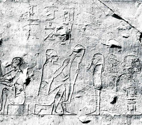 Fig.15. Relieve donde se muestra la elaboración de ushebtis. Tumba Iby. Tebas Oeste.