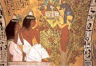 Pintura de la tumba de Sennedjem (TT96). Deir el-Medina, XIX dinastía