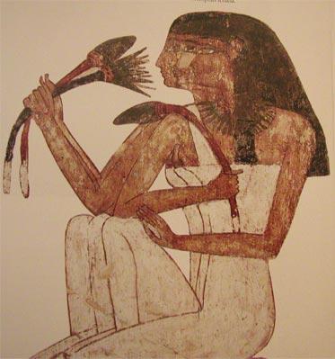 Fragmento de pintura procedente de la tumba de Rekhmire