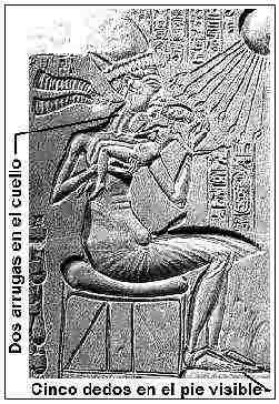 Fig. 1. Detalle de las representaciones del arte de Amarna. Piedra caliza, museo de Berlín nº 14145.