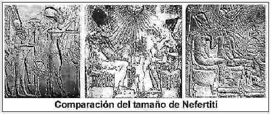 Fig. 5. Comparación del tamaño de Nefertiti.
