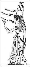 Fig. 8. Ropas egipcias, de diseño más sensual (capilla dorada de Tiy, KV55).