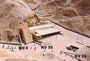 Fig. 14. Situación de KV55 en el Valle de los Reyes.