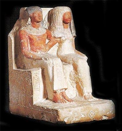 Estatua de Khaout y Tanetimentet (din.XVIII)