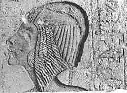 Retrato de Kiya, modificado para Meritatón. Procedente de Hermópolis, aunque posiblemente en su origen estaba en el Maru Atón. Museo de Copenhage
