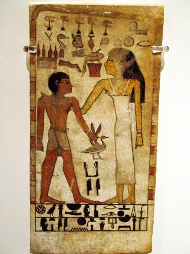 Fig. 10. Estela funeraria de Jenit y su hijo Kay. Imperio Medio.