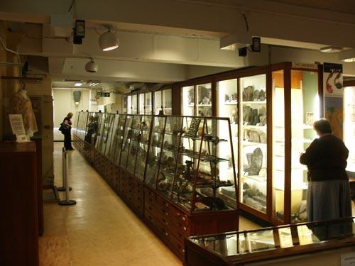 Fig. 8. Vitrinas A-H de la segunda sala del museo (B).