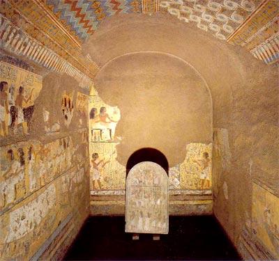 Fig.-5. Capilla de la tumba de Maya. XVIII dinastía. Deir el Medina. Excavaciones Schiaparelli
