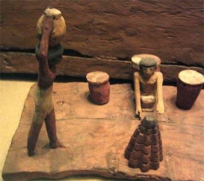 Fig.-10. Maqueta de elaboración de pan. Tumba de Minhotep y Upuautemhat, dignatario del 1er Periodo Intermedio-Princio del Imperio Medio y su esposa