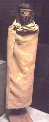 Fig -12. Estatuilla femenina. Madera vestida con lino. Asyut, inicio de XII