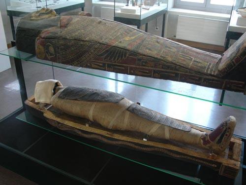 Sarcófago y momia