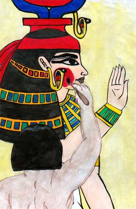 Artista pintando en la tumba de Hatshepsut