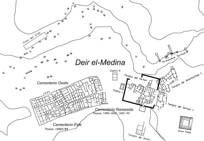 Fig. 2. Plano general del poblado de Deir el-Medina.