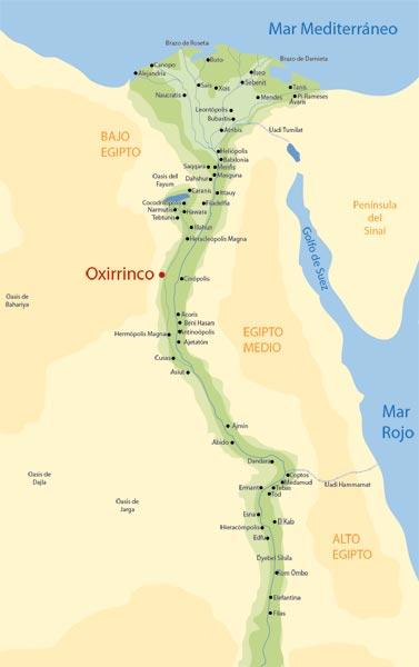 Fig. 8. Mapa de Egipto.
