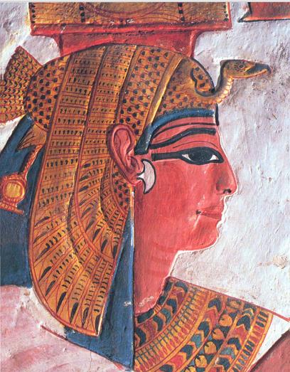 Imagen 1. Nefertari representada en su tumba