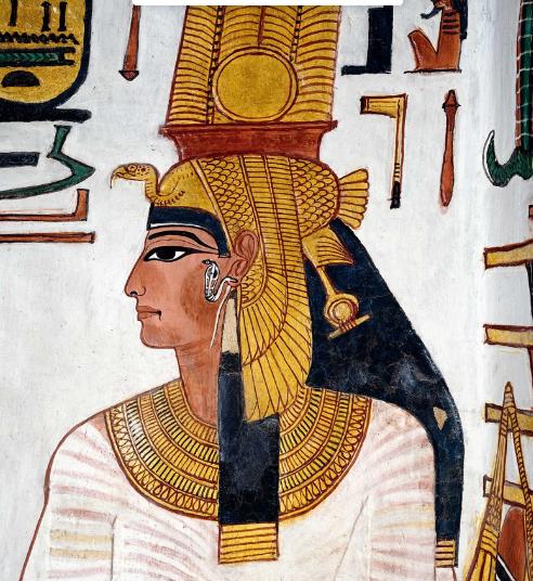 Imagen 2. Detalle de una de las pinturas de la tumba