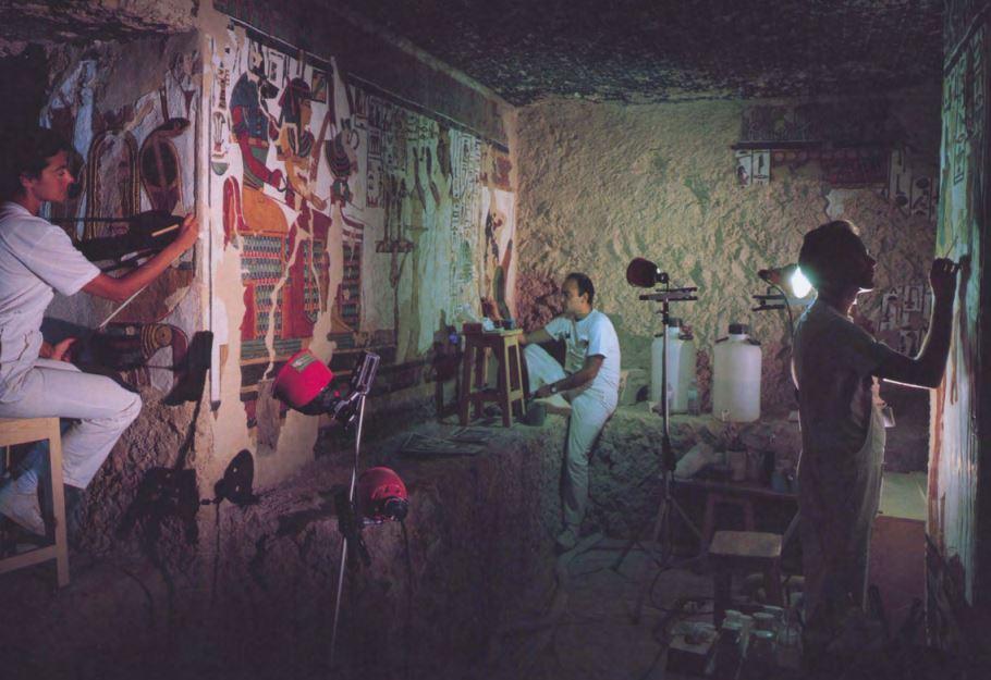 Imagen 1. Labores de restauración
