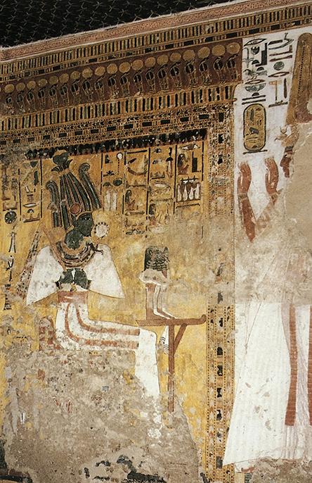 Imagen 2. Nefertari ante Osiris, muro sur
