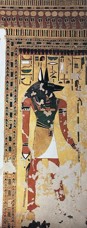 Imagen 3. Muro este. Anubis en el quiosco de Osiris