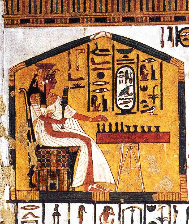 Imagen 3, Nefertari jugando al senet, muro sur