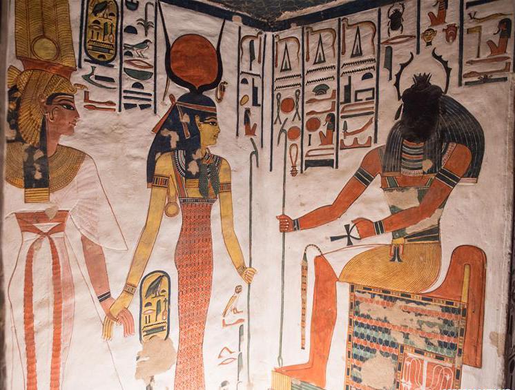 Imagen 6 - Parte izquierda del vestíbulo. Isis conduce a Nefertari ante Jepri.