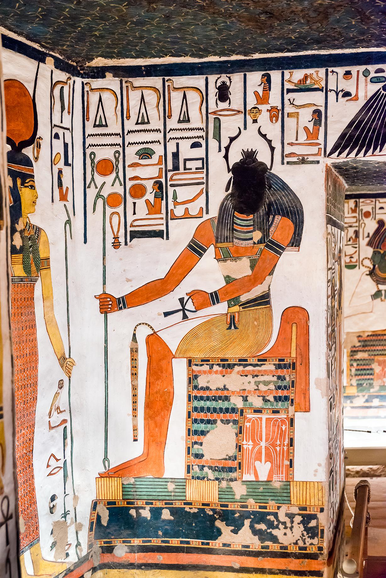 Imagen 10. El dios Jepri, encargado de recibir a la reina