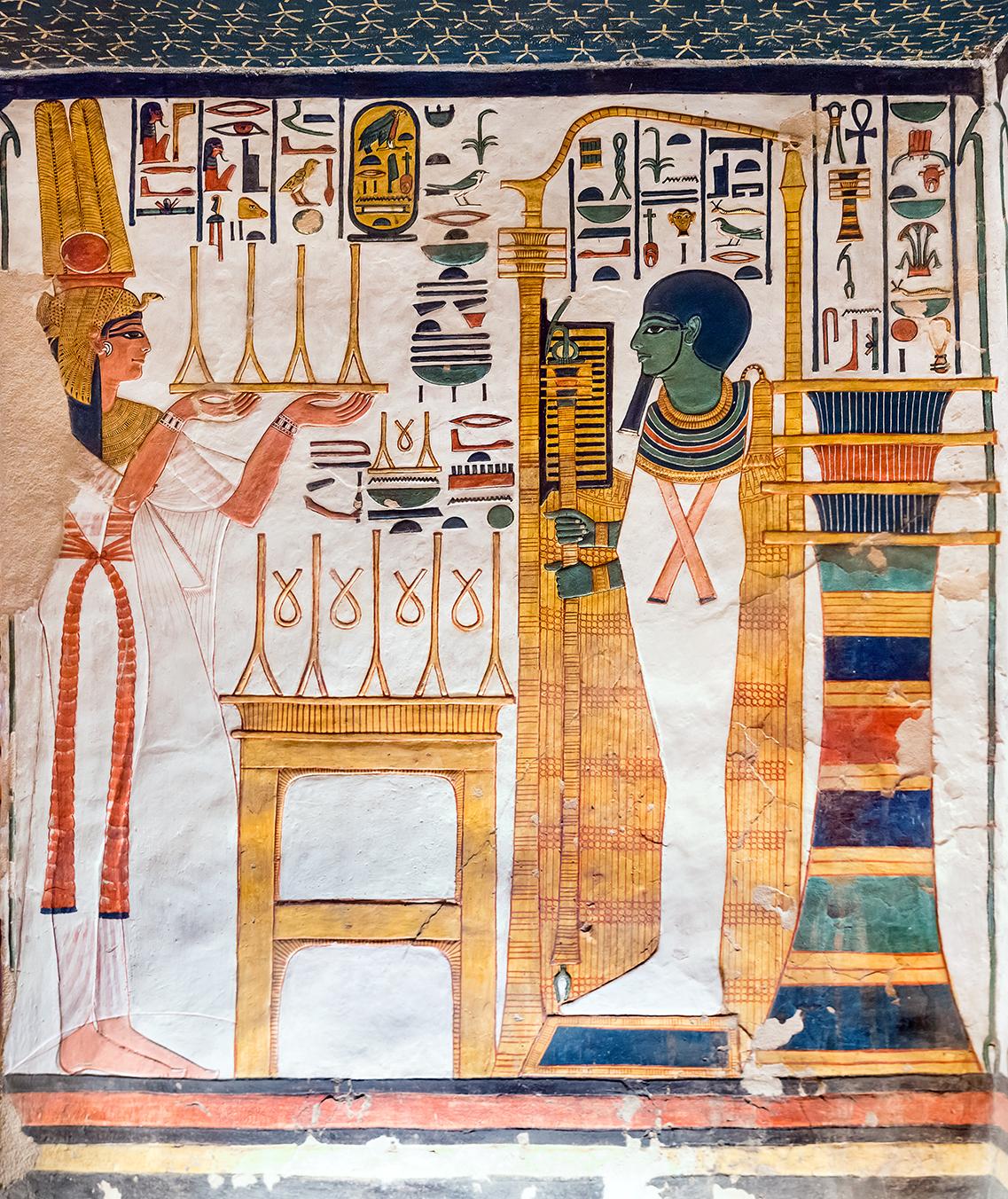 Imagen 4. Nefertari ante Ptah