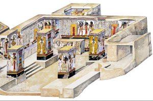 Imagen 2, corte de la cámara del sarcófago, lado izquierdo